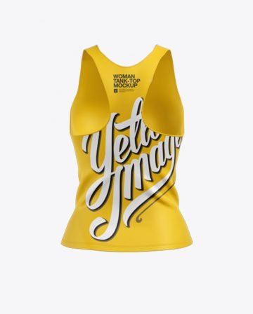 Women's Tank Top Mockup - Back View