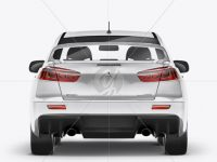 Mitsubishi Lancer Evolution X Mockup - Back View