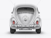 Volkswagen Beetle Mockup - Back View