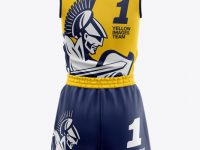 Women's Basketball Kit Mockup - Back View