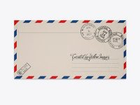 Textured Envelope Mockup