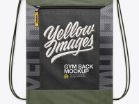 Gym Sack Mockup - Front View