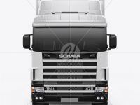 Scania Truck Mockup - Front View