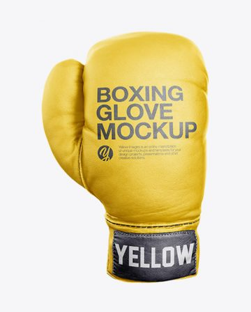 Boxing Glove Mockup - Front View