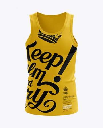 Mens Tank Top HQ Mockup Front View
