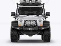 Jeep Wrangler Mockup - Front view