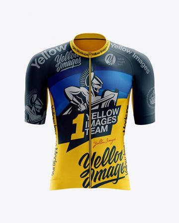 Men's Cycling Speed Jersey mockup (Front View)