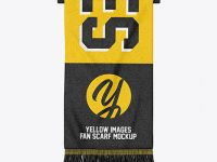 Hanging Fan Scarf Mockup - Top View