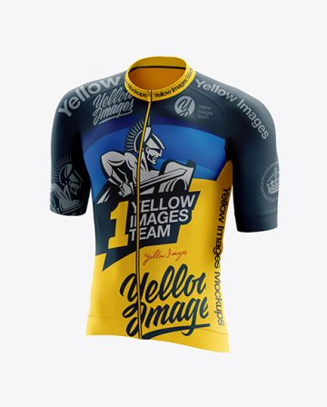 Men's Cycling Speed Jersey mockup (Half Side View)