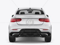 Mercedes-Benz GLE Coupe 2016 Mockup - Back view