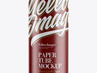 Glossy Paper Tube Mockup - Front View
