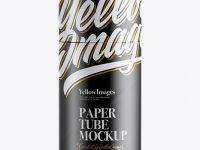 Matte Paper Tube Mockup - Front View