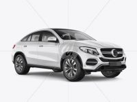 Mercedes-Benz GLE Coupe 2016 Mockup - Half Side view