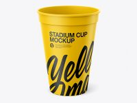 Paper Stadium Cup Mockup - Front View (High Angle Shot)