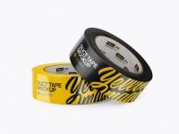 Two Glossy Duct Tape Rolls Mockup
