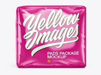 Glossy Pads Package Mockup - Front View