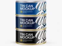 5oz Three Cans Mockup