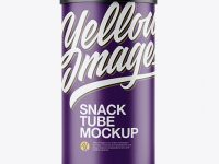 Matte Textured Snack Tube Mockup