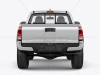 Toyota Tacoma TRD Off-Road 2016 Mockup - Back view