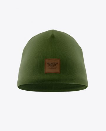 Beanie Hat Mockup - Front View