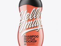 Red Shampoo Bottle Mockup
