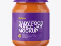 Baby Food Carrot Puree Jar Mockup