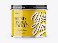Glossy Tin Can Box Mockup