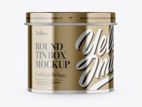 Metallic Tin Can Box Mockup