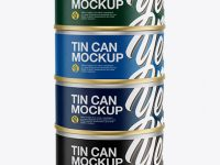 5oz Four Cans Mockup
