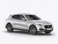 Mid-Size Luxury Crossover SUV Mockup - Half Side View