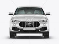 Mid-Size Luxury Crossover SUV Mockup - Front View