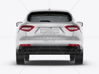 Mid-Size Luxury Crossover SUV Mockup - Back View