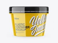 Glossy Container Mockup - Front View