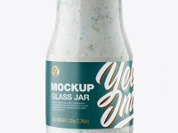 Glass Jar with Tartar Sauce Mockup