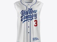 Baseball Sleeveless Shirt Mockup - Front View