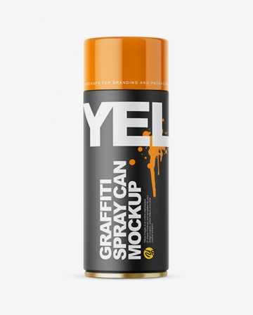 Closed Matte Spray Can Mockup