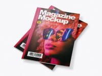 Two Magazines Mockup - Top View