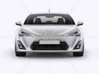 Toyota GT86 Mockup - Front View