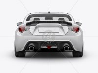 Toyota GT86 Mockup - Back View