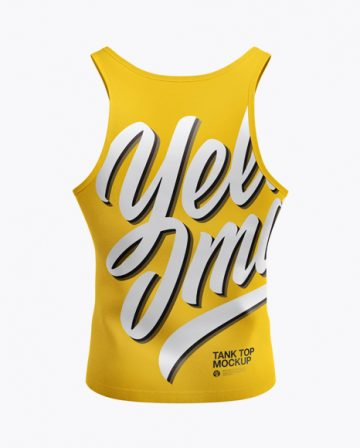 Tank Top Mockup - Back View