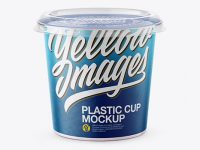 325g Yogurt Cup Mockup - Front View
