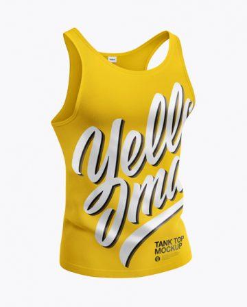 Tank Top Mockup - Half Side View