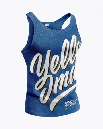Melange Tank Top Mockup - Half Side View