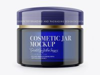 Blue Cosmetic Jar Mockup
