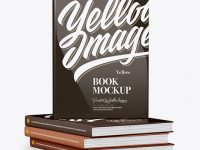 Glossy Covered Books Mockup