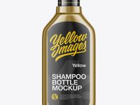 400ml Metallic Shampoo Bottle Mockup