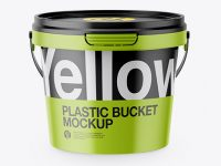 Matte Plastic Bucket Mockup - High Angle Shot