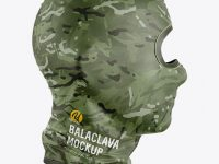 Balaclava Mockup - Side View
