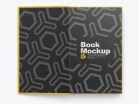 Opened Hardcover Book Mockup - Top View