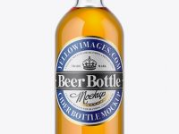 Clear Glass Beer Bottle Mockup